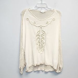 Simply Couture | Batwing open knit Top